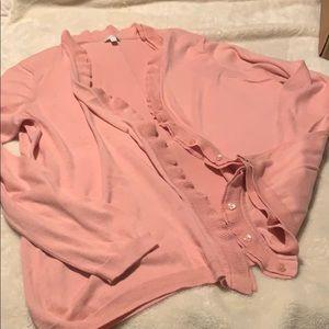 Talbots soft pink cardigan 1x